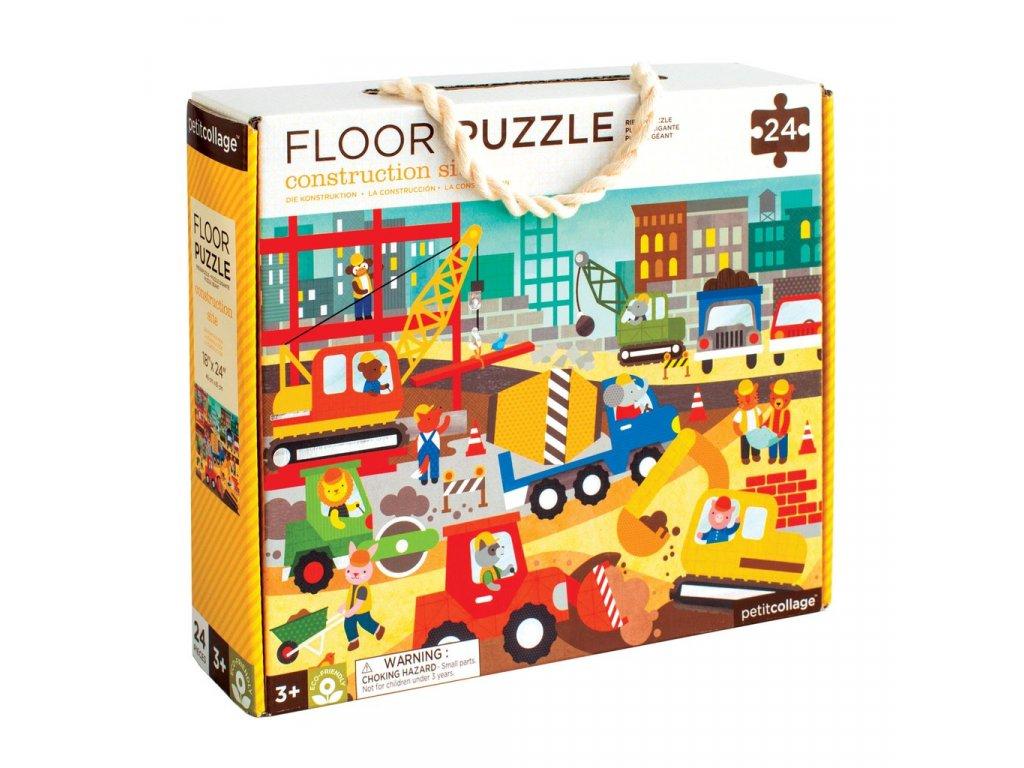 Petitcollage Podlahové puzzle - Stavba ve městě