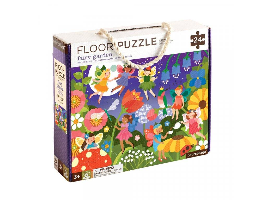 Petitcollage Podlahové puzzle - Zahradní víly