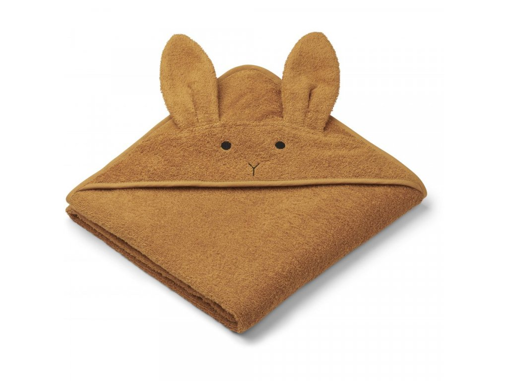 LW12442 Augusta hooded towel 0130 Rabbit mustard Extra 0