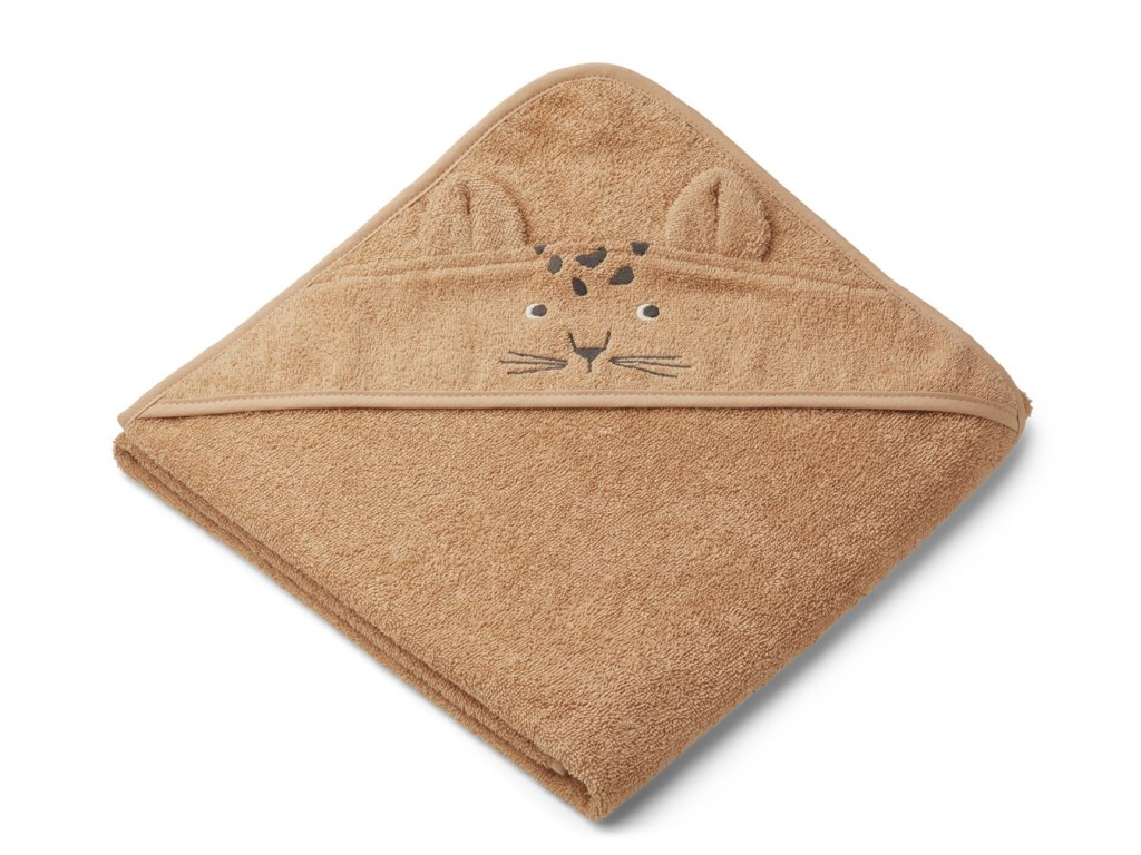 LW12442 Augusta hooded towel 2151 Leopard apricot Extra 0