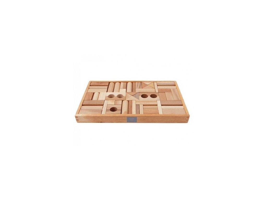 natural blocks 54pcs in tray