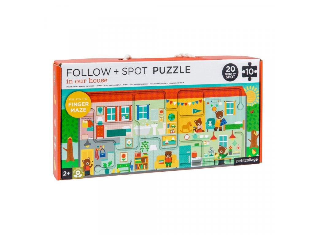 Petitcollage Bludiště a puzzle - Náš domov
