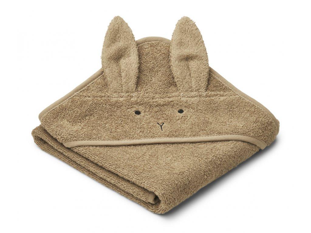 LW12564 Albert hooded towel 9537 Rabbit oat Extra 0