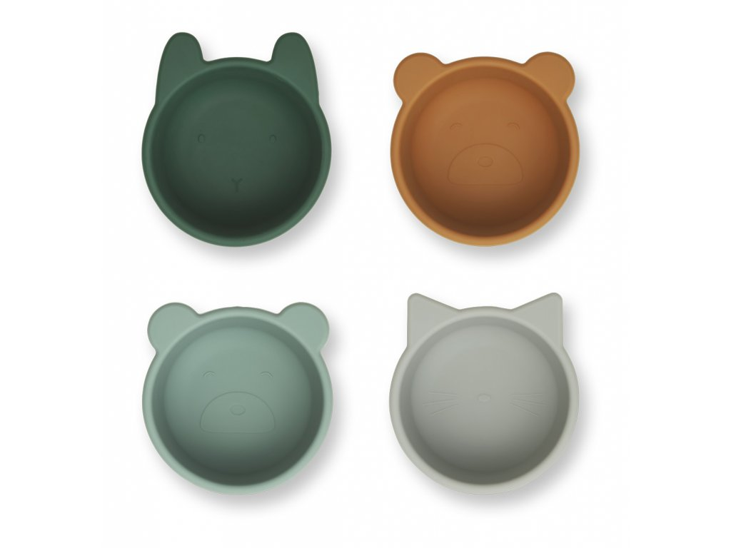 LW14101 Malene silicone bowl 4 pack 7346 Green multi mix Extra 0