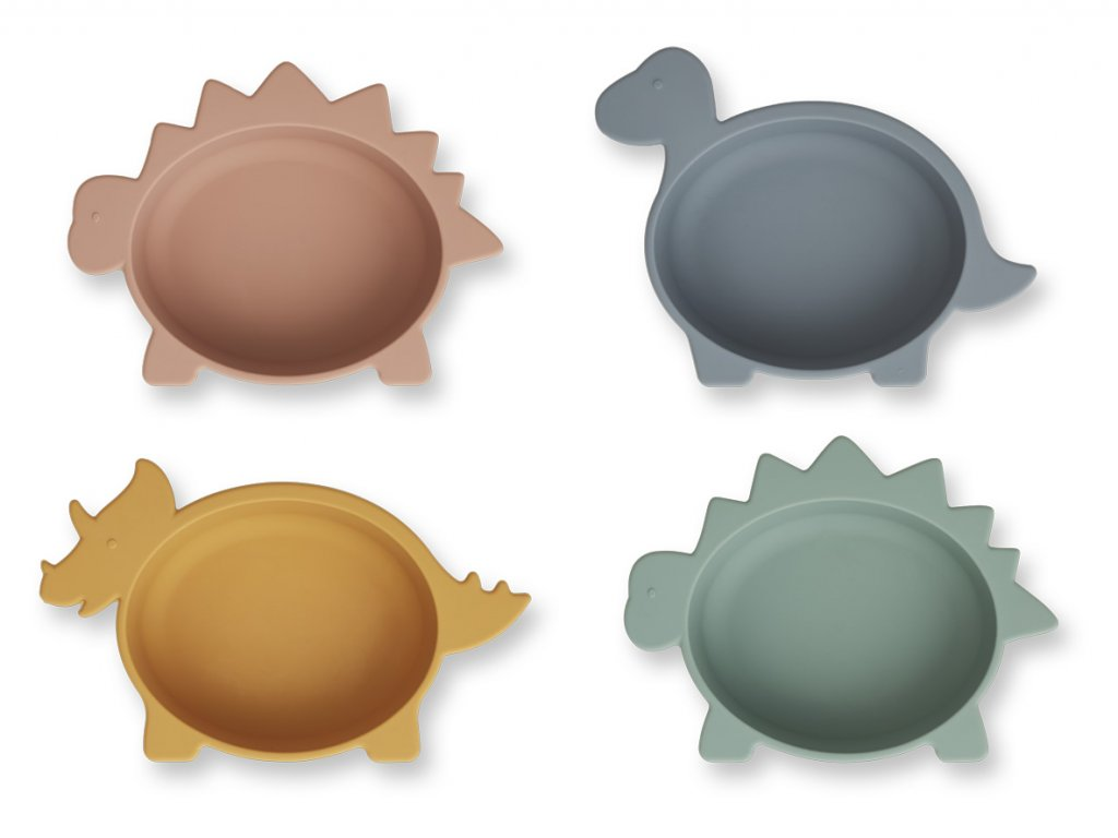 LW14153 Iggy silicone bowls 4 pack 9506 Dino multi mix Extra 0