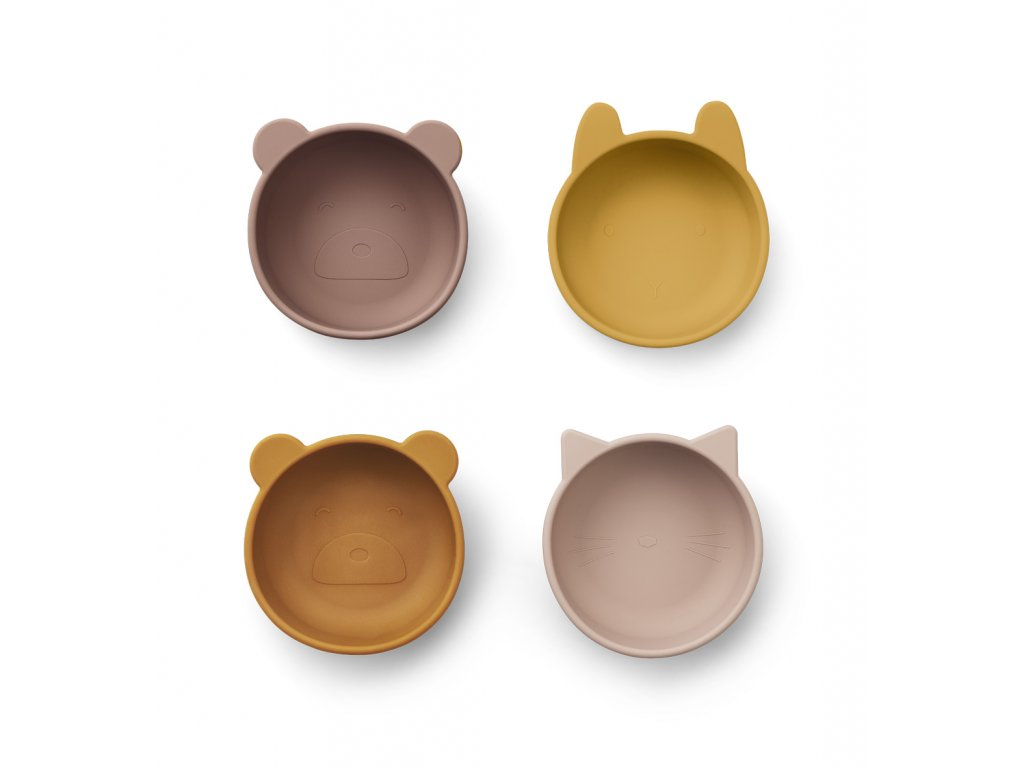 LW14153 Iggy silicone bowls 4 pack 9299 Rose mix Extra 0