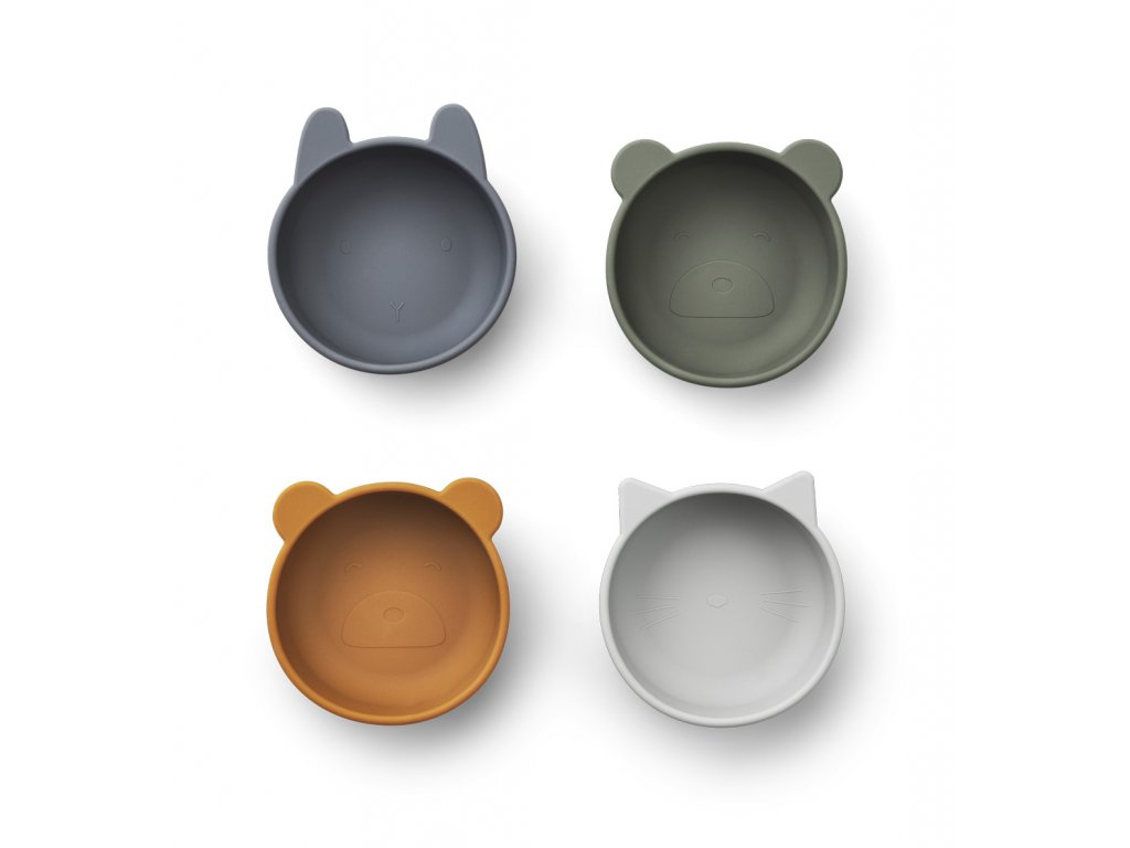 LW14153 Iggy silicone bowls 4 pack 9298 Blue mix Extra 0
