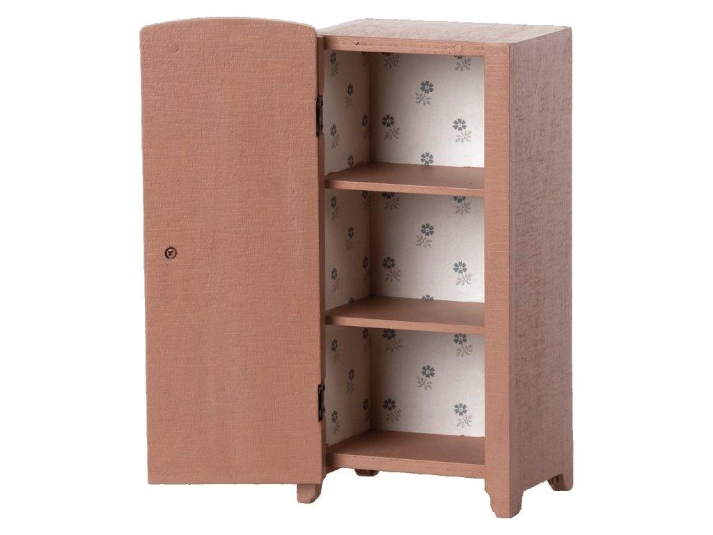 Maileg Dřevěná skříňka Miniature Closet Dusty Rose Mini