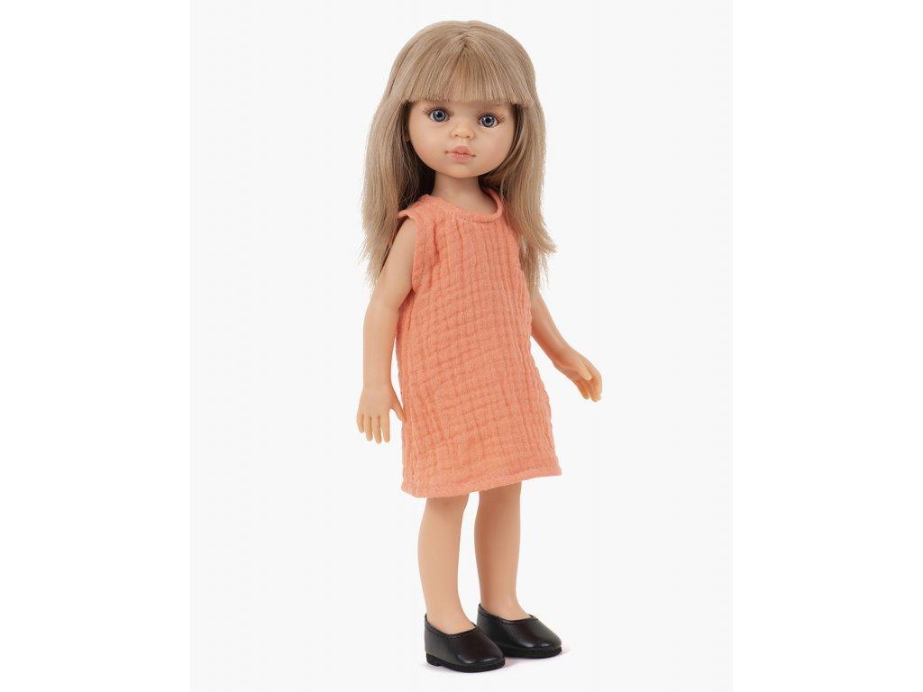 minikane collection amigas poupee carla et sa robe iva papaye