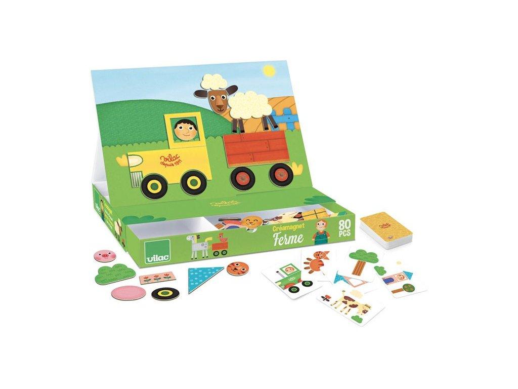 Vilac Kreativní hra s magnety - Farma