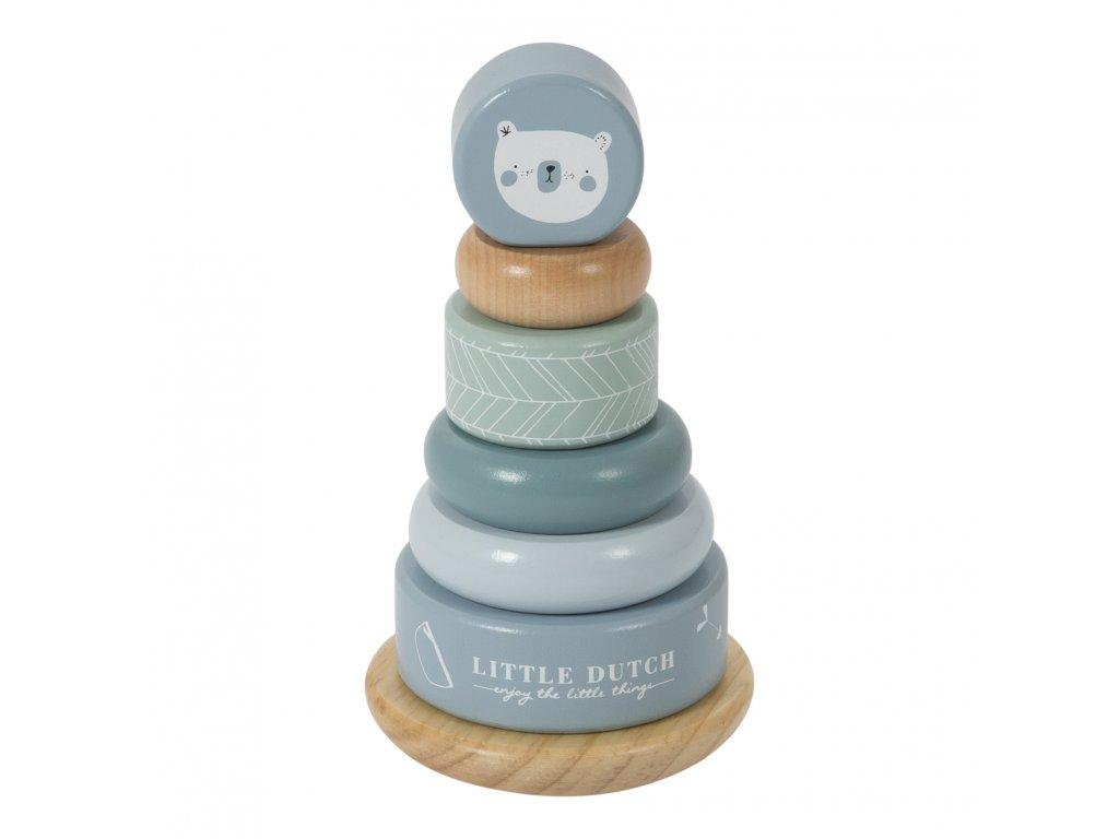4401 Wooden rocking ring stacker adventure blue 1 kopie