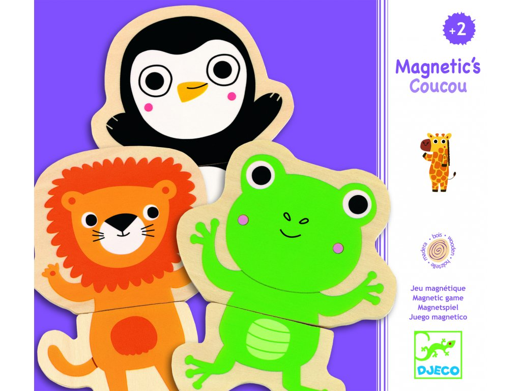 Djeco Magnety - Veselá zvířátka