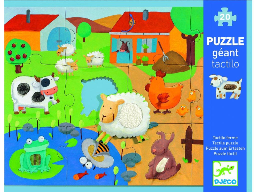 Djeco Hmatové puzzle - Farma