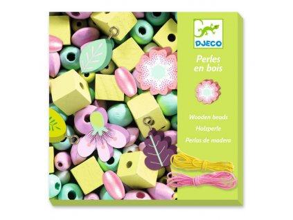 Djeco Tvoření šperků - korálky Pastelové květiny