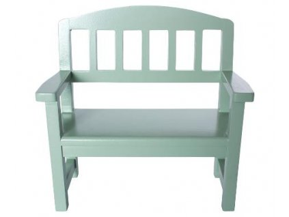 wooden bench green