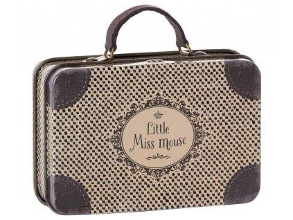 Maileg Plechový kufřík cestovní - Little Miss Mouse