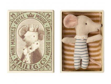 Maileg Myška v krabičce od sirek - miminko chlapeček