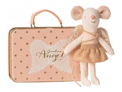 Maileg Andělská myška v kufříku - Little Sister