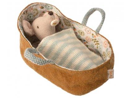 Maileg Myší miminko v košíčku