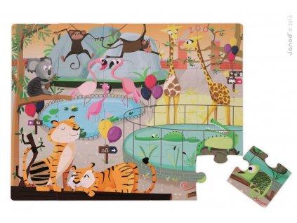 J02774 Puzzle dotykove Den v zoologickej zahrade Janod s texturou 20 dielov od 3 6 rokov 2
