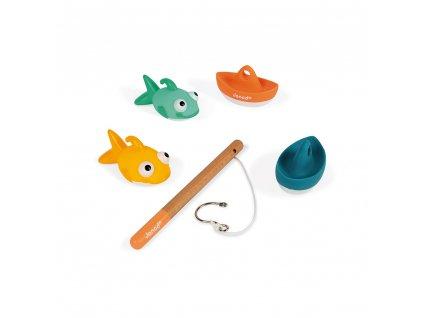 J04715 Janod hracka do vody rybarska udica s lodkami rybami 04