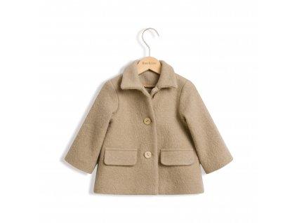 Roe&Joe Vlněný kabát - hnědobéžový