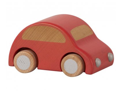wooden car red