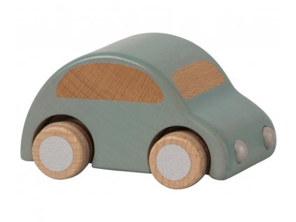 wooden car blue