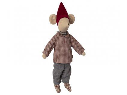Maileg Vánoční myšák Christmas Mouse Boy Medium