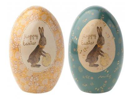 Maileg Kovové velikonoční otevírací vajíčko Easter Egg Mille Eoufs