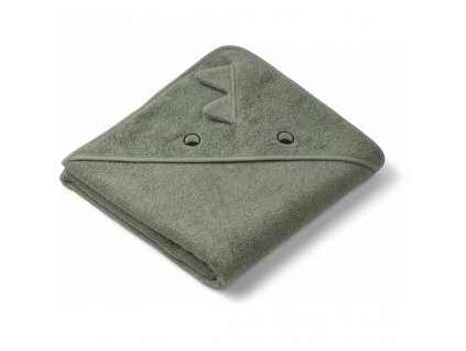 LW12442 Augusta hooded towel 0245 Dino faune green Extra 0