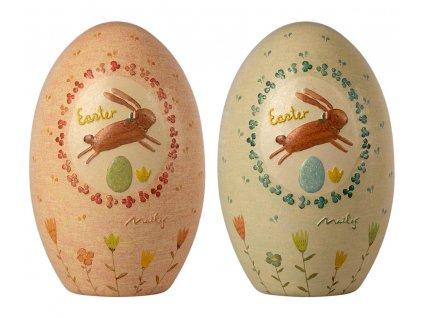 Maileg Kovové velikonoční otevírací vajíčko s reliéfem Easter Egg