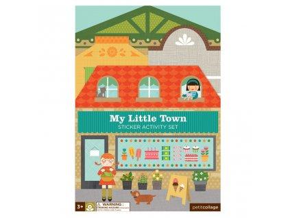 Petitcollage Znovupoužitelné samolepky se scénou - Moje malé město