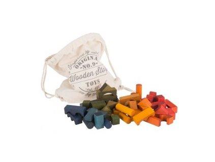 rainbow blocks 100pcs in sack