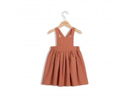Roe&Joe Bavlněné šaty cihlové N°3 Cotton Dress Brick