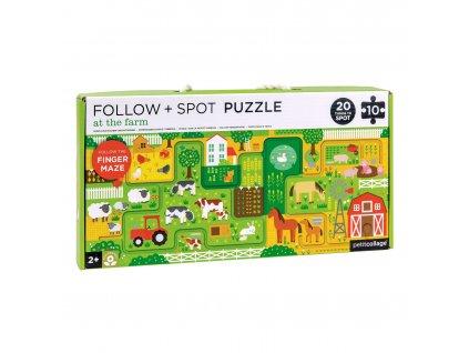 Petitcollage Bludiště a puzzle - Farma