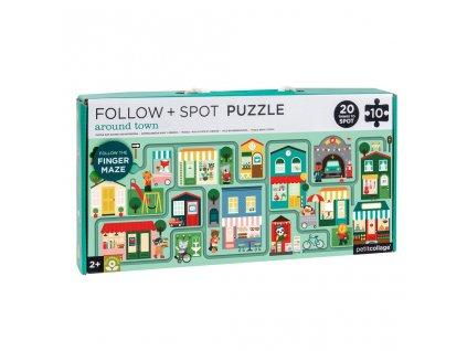 Petitcollage Bludiště a puzzle - Město