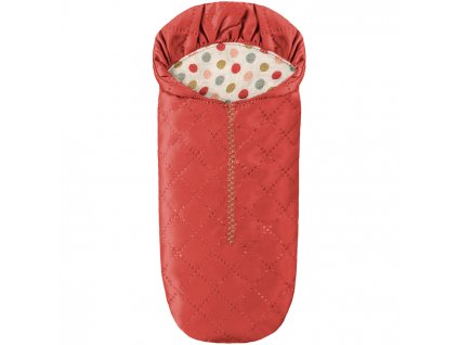 maileg mus mice toys leg play box aeske lille little mus sleeping bag sove sovepose sleeping bag taske red roed 1 p