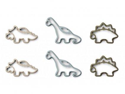 Liewood Silikonové formy palačinky 6 ks Karina Pancake Set Dino Khaki Mix