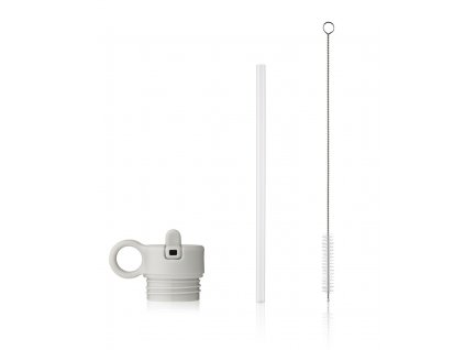 LW14185 Lid with straw and brush for Neo 9407 Light grey Main