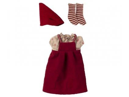 Maileg Šaty pro vánoční myšku Christmas Clothes for Medium Mouse Girl
