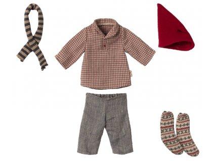 Maileg Šaty pro vánočního myšáka Christmas Clothes for Medium Mouse Boy
