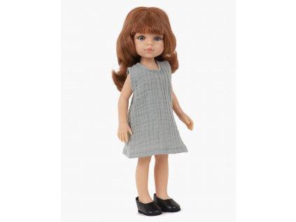 minikane collection amigas poupee christi et sa robe iva grise