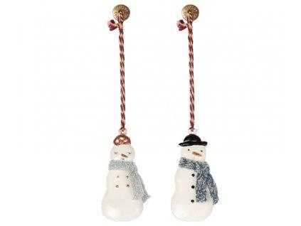 Maileg Vánoční kovová ozdoba Sněhulák velký
