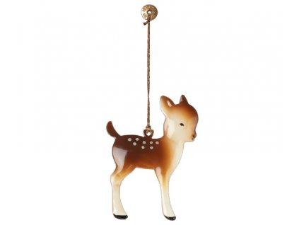 Maileg Vánoční kovová ozdoba Bambi malý