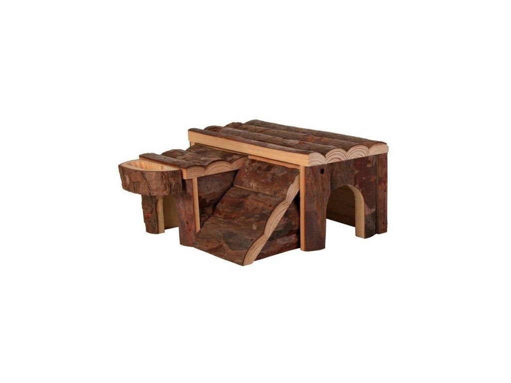 Dřevěný domek LUKA pro křečka 14x7x14cm TRIXIE