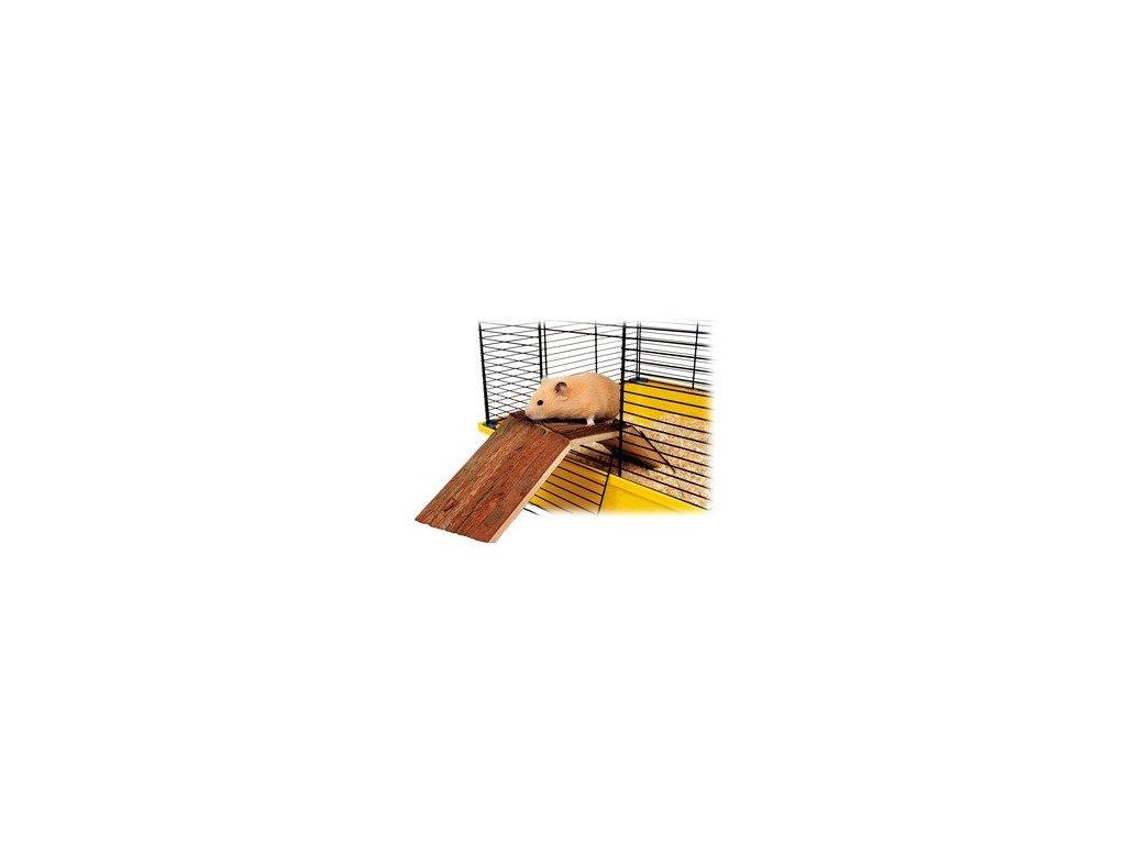 Dřevěný most pro králíky a morčata do klecí  63x18x15 cm