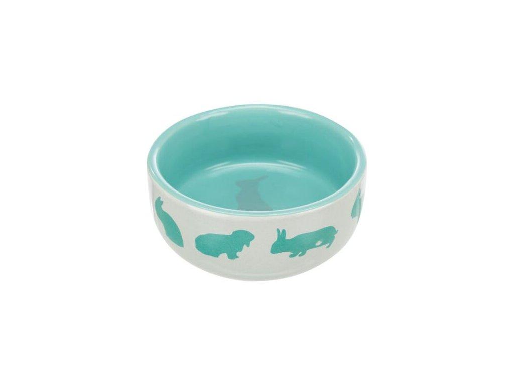 Keramická miska pro králíky barevná 250 ml/11 cm