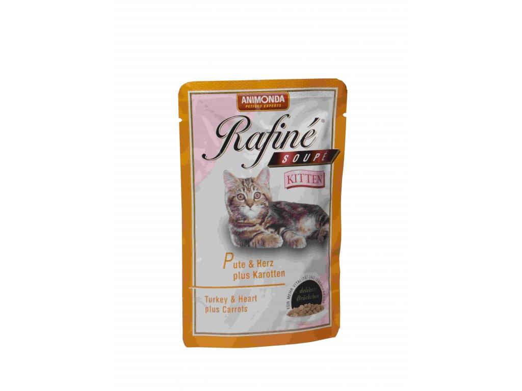 ANIMONDA kapsa Rafiné Soupé Kitten -krůta+srdce+karotka 100g