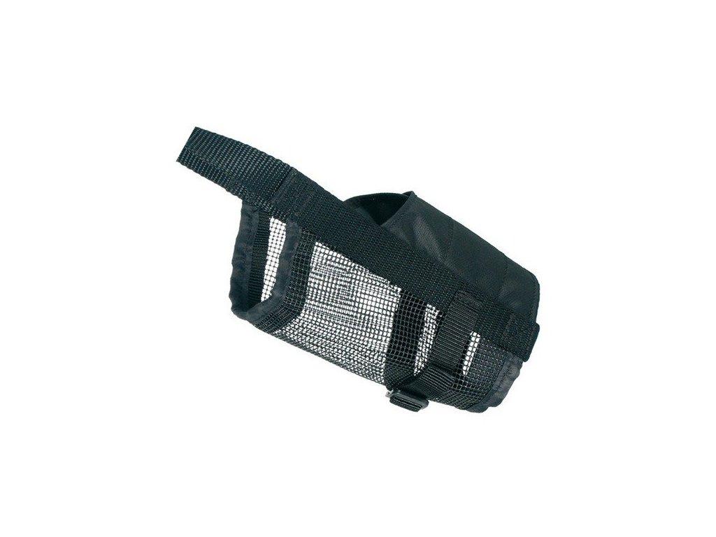 Náhubek nylonový se síťkou, polyester, černý L-XL
